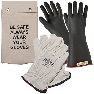 Glove kit with bag Black